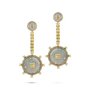 Celeste Yellow Sapphire & Jade Earrings
