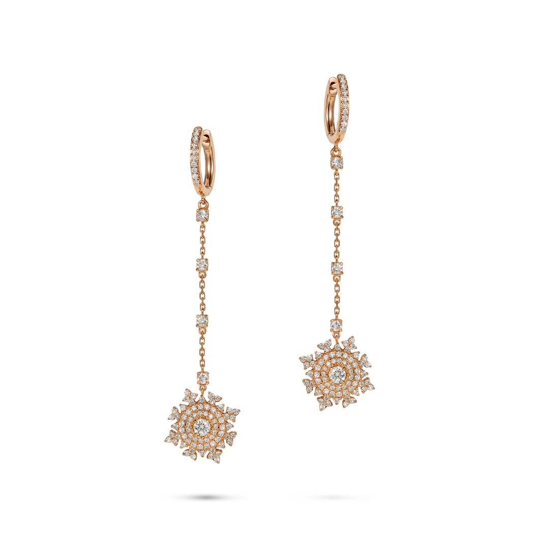 Petite Tsarina Rose Huggie Earrings