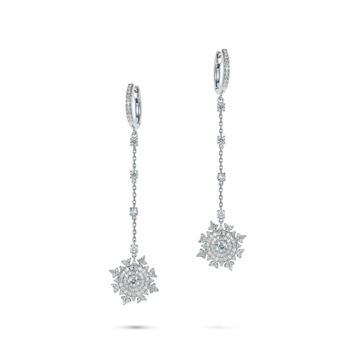 Petite Tsarina White Huggie Earrings