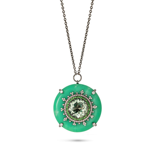 Tsarina Mint Flake Necklace