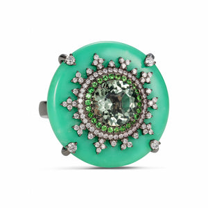 Tsarina Mint Flake Ring