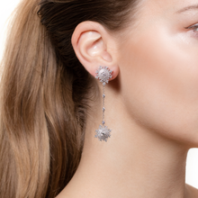 Load image into Gallery viewer, Petite Tsarina White Pendant Earrings