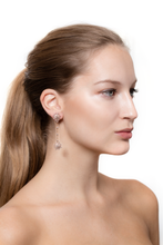 Load image into Gallery viewer, Petite Tsarina Rose Pendant Earrings