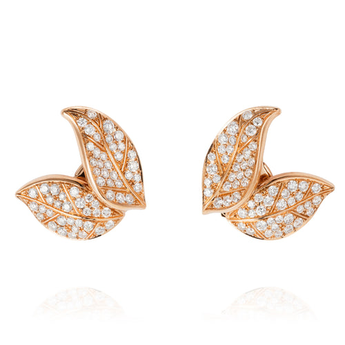 Petite Feuille Stud Earrings