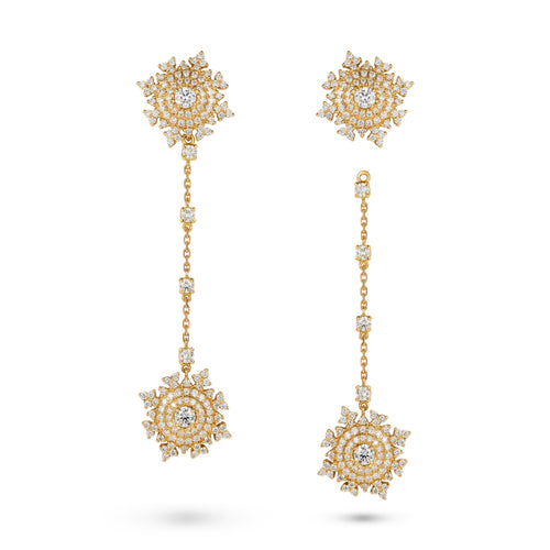 Petite Tsarina Yellow Pendant Earrings