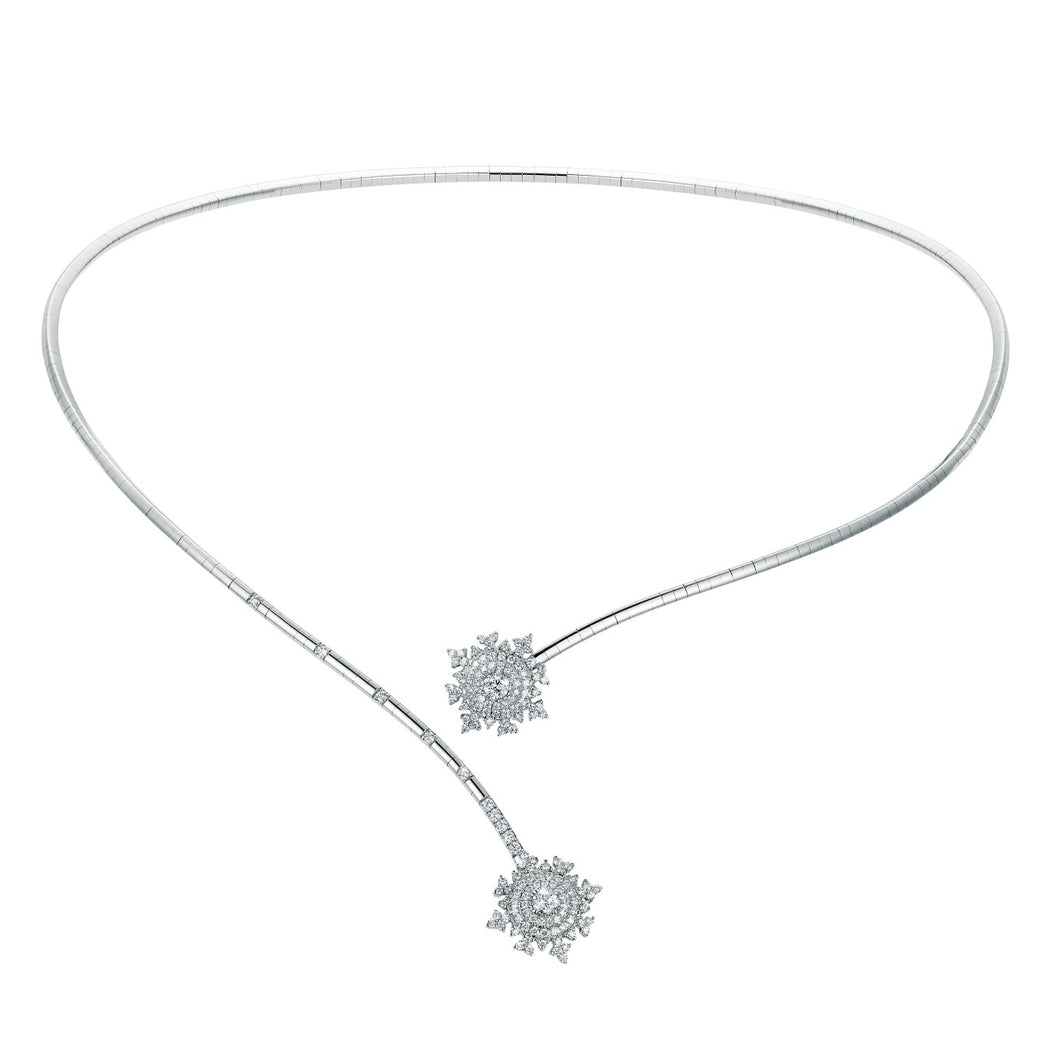 Petite Tsarina White Single Choker