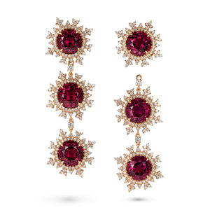 Tsarina Fire Flake Earrings