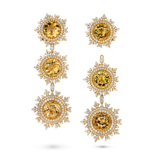 Load image into Gallery viewer, Tsarina Sun Flake Earrings