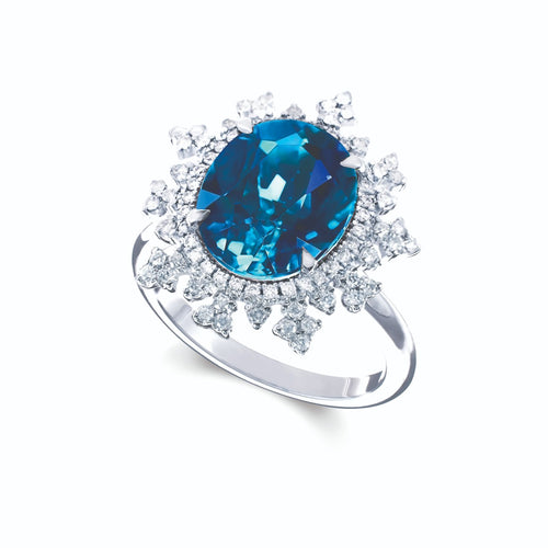 Tsarina Sky Blue Flake Ring