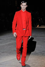 Load image into Gallery viewer, Givenchy Fall 2012 Red Wool Two Button Slim Fit Blazer- 36