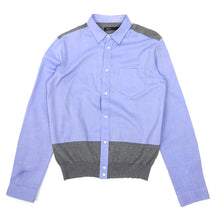 Load image into Gallery viewer, 08Sircus Blue/Grey Button Up Knit Size 48