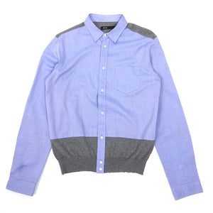 08Sircus Blue/Grey Button Up Knit Size 48