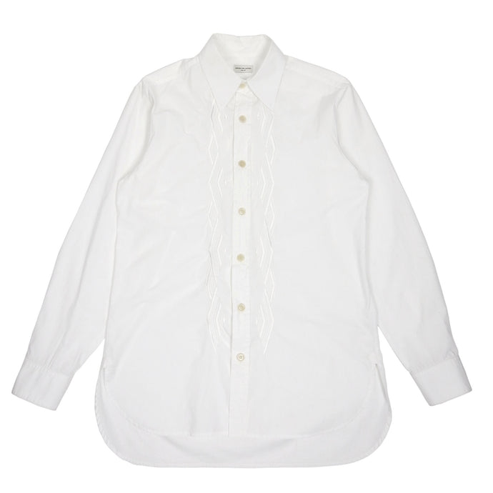 Dries Van Noten White Embroidered Shirt Size 48