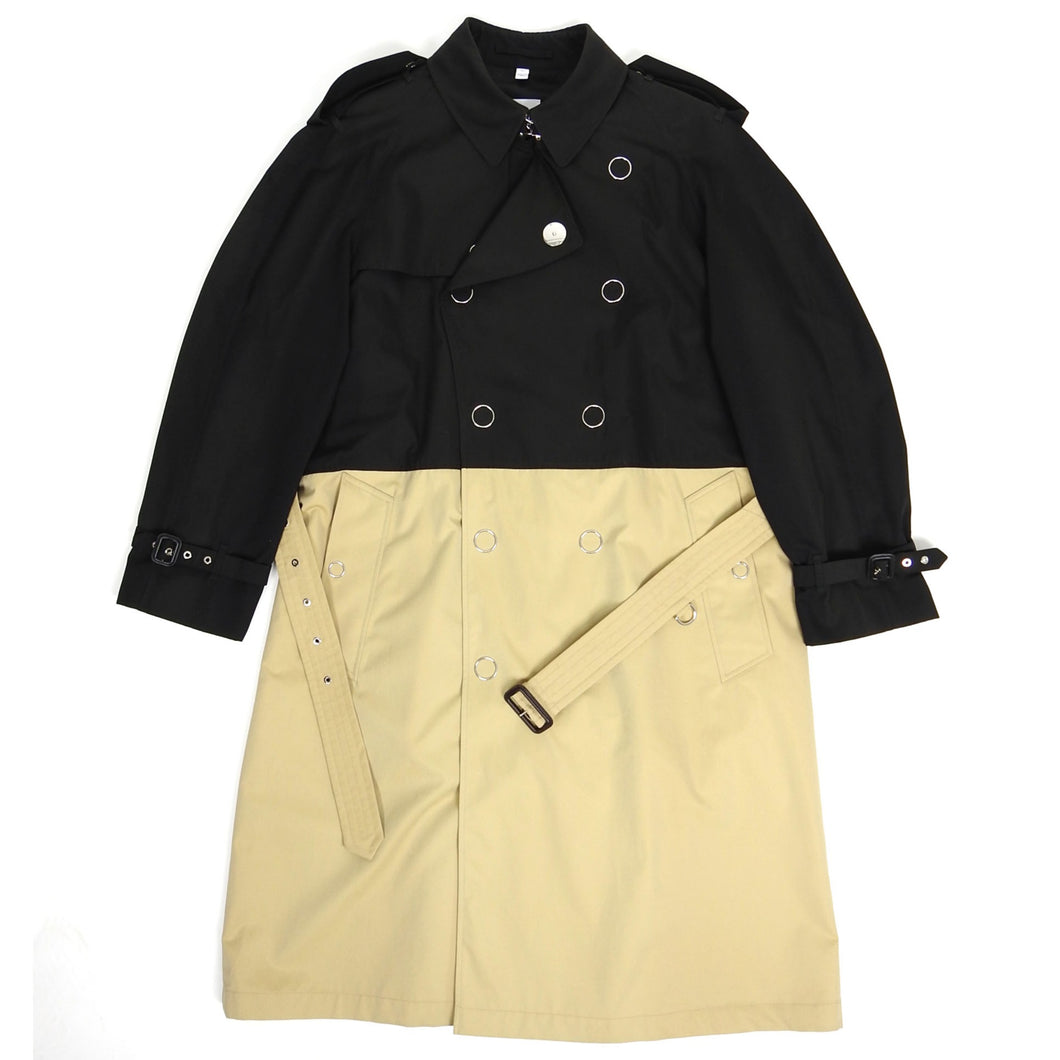 Burberry SS'19 Two Tone Trench Black/Beige 54
