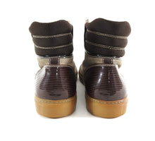 Load image into Gallery viewer, Lanvin Tennis Haute High Top Brown Suede and Leather Sneakers - 8