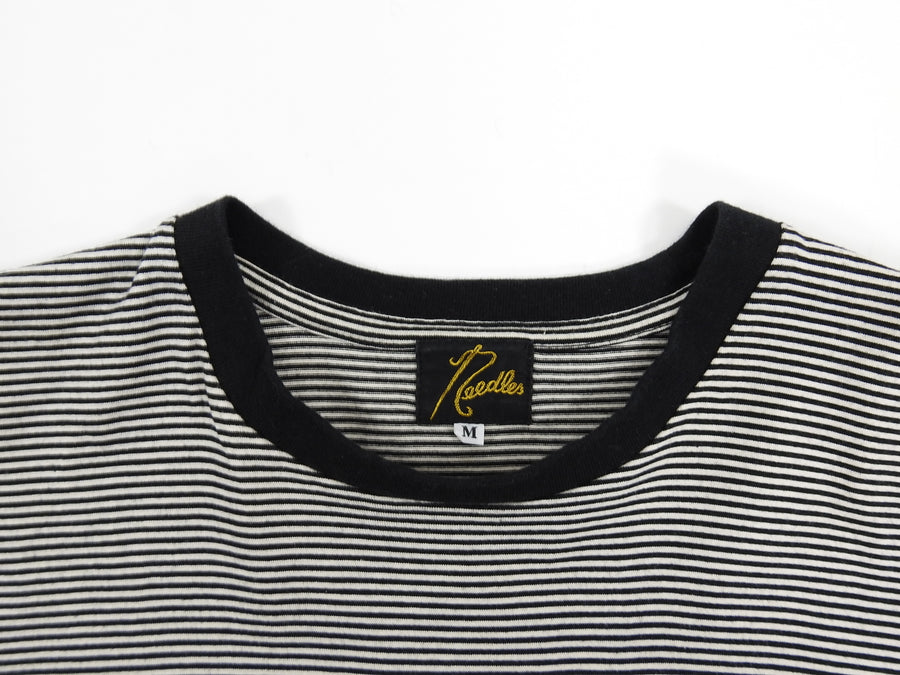 Needles Horizontal Striped Black and White Short Sleeve Tee - S
