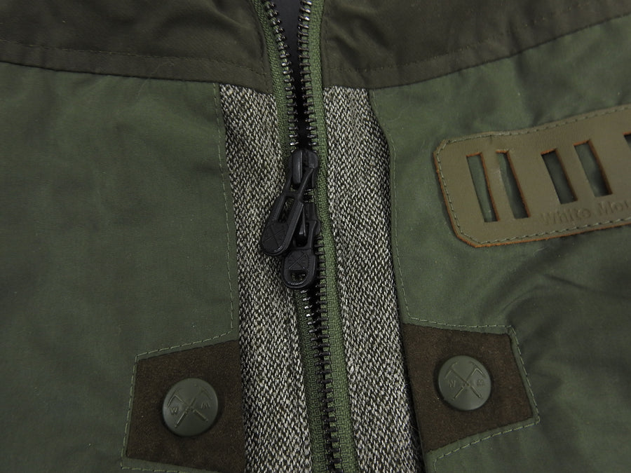 White Mountaineering Olive and Brown Down Technical Vest - S