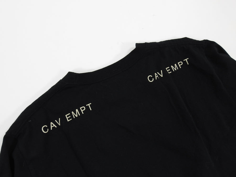 Cav Empt Black Long Sleeve Pink Graphic Tee - L