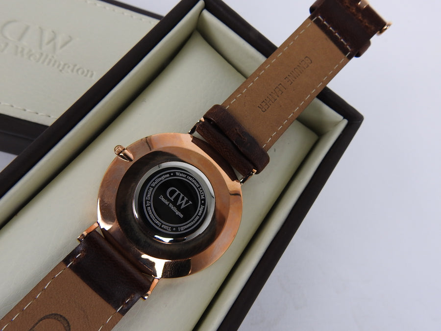 Daniel Wellington Classic Bristol Rose Gold and Brown 40mm Watch