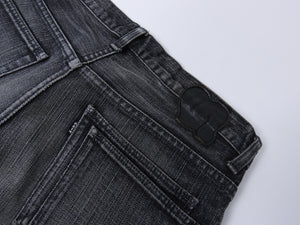Number (N)ine Grey Wash Slim Straight Cropped Denim Jeans - 30