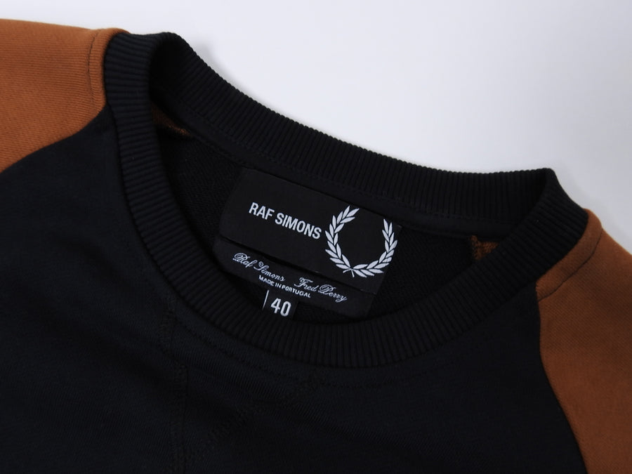 Fred Perry x Raf Simons Rust Black Colour Block Crew neck Sweater - L