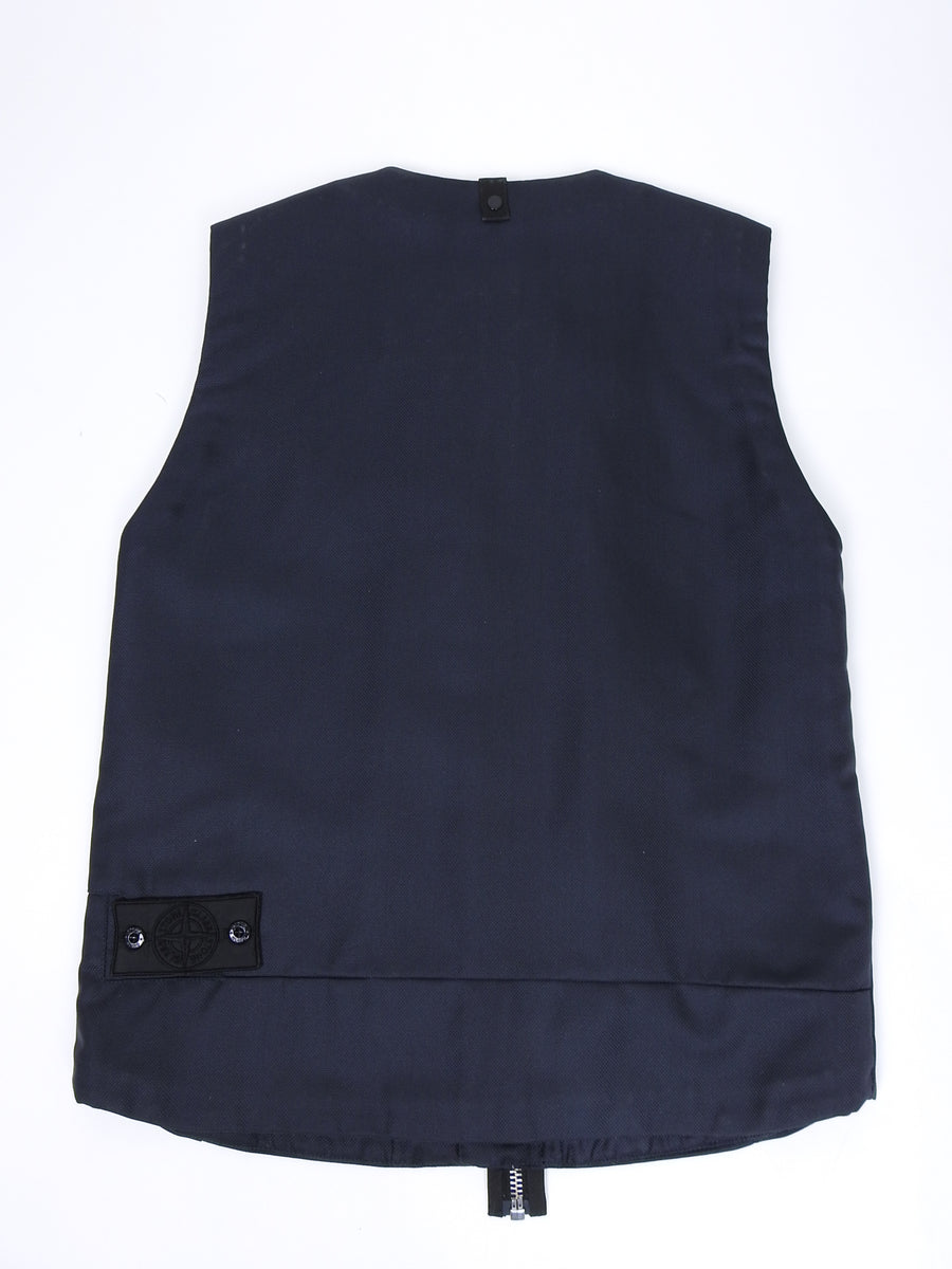 Stone Island Shadow Project Black Nylon Zip Vest - M