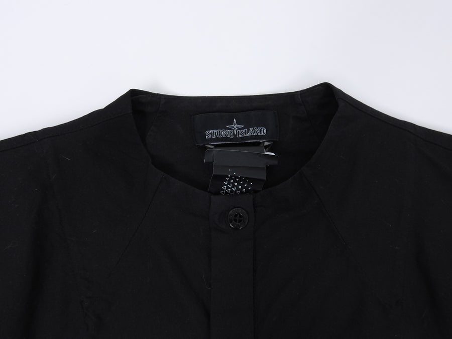 Stone Island Shadow Project Black Nehru Collar Button Up Shirt - M