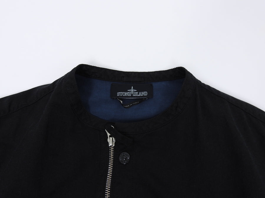 Stone Island Shadow Project Black Moto Style Zip Up Jacket - M