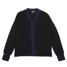 Load image into Gallery viewer, RRL & Co Black/Navy Cardigan Small