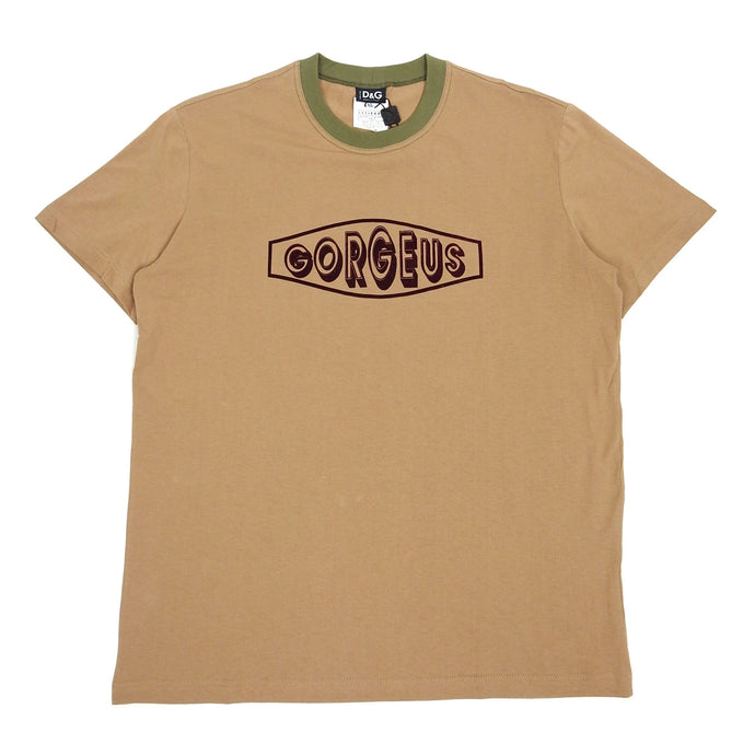 Dolce & Gabbana 'Gorgeous' Tee Brown XL