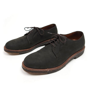 Alden Grey Suede Plain Toe Blucher Size 8