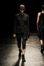 Load image into Gallery viewer, Julius Fall 2012 Cropped Black Cargo Pocket Trousers with Raw Edges - XS