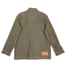 Load image into Gallery viewer, AMI Olive Denim Jacket Medium