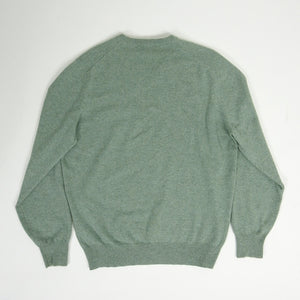 Brunello Cucinelli Cashmere V-Neck Sweater Green 50