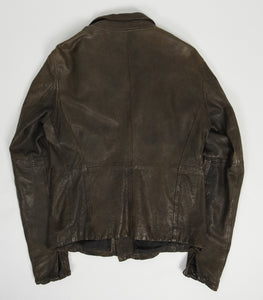 Julius FW'11/12 Halo Leather Jacket Brown 4