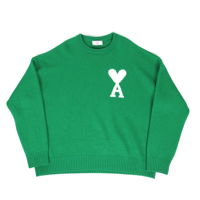 AMI Knit Sweater Green XL