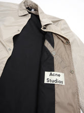 Load image into Gallery viewer, Acne Perforated Snap Button Jacket Cream Size 48