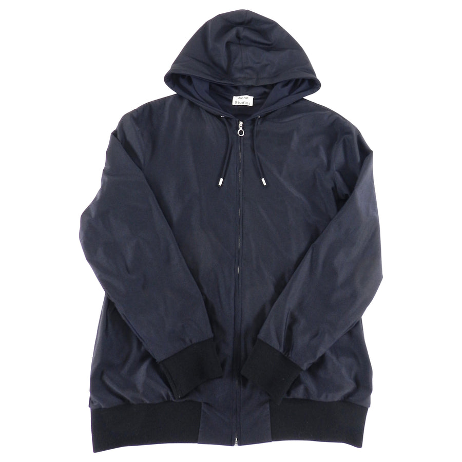 Acne Studios Fall 2015 Black Zip Up Hoodie - L