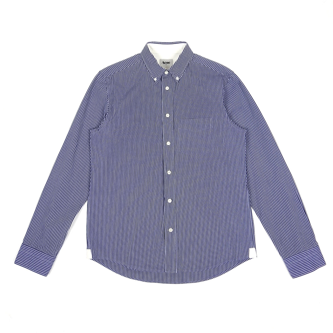 Acne Striped Button Up Blue 48