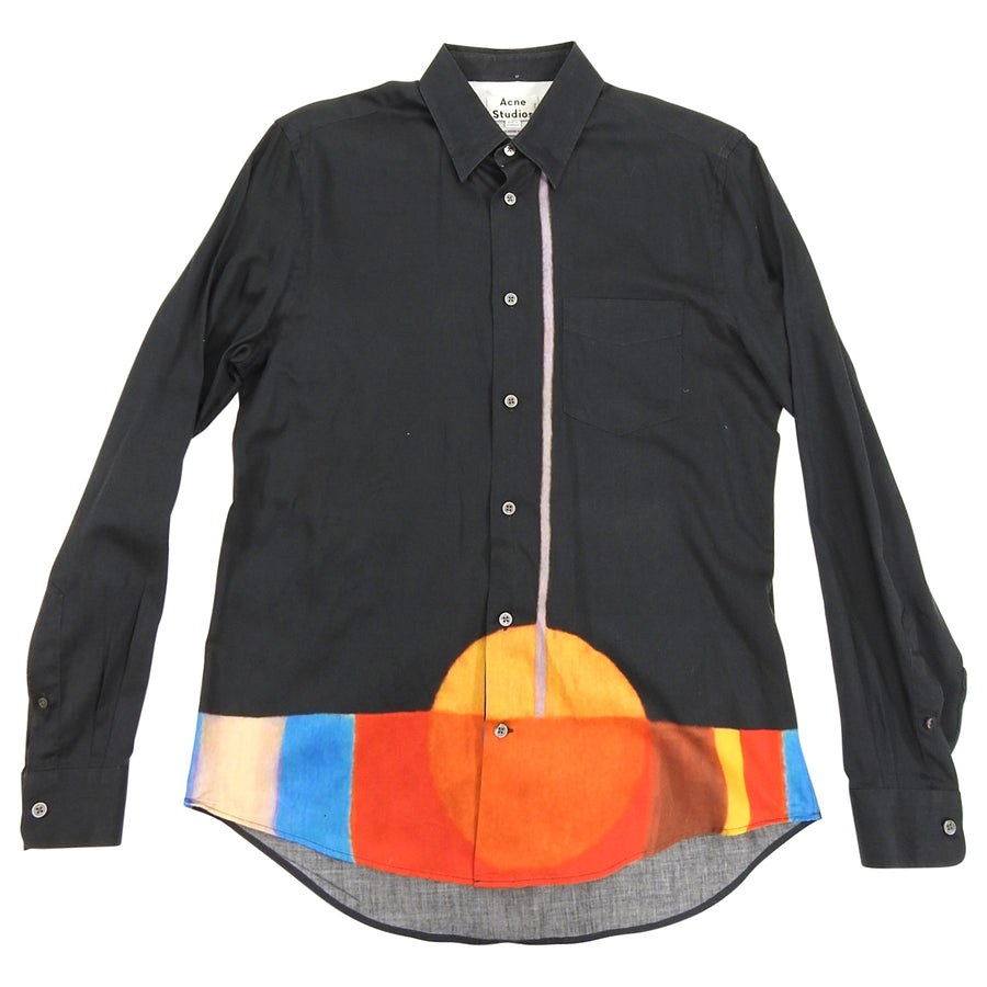 Acne Studios Black and Orange Button Down Shirt