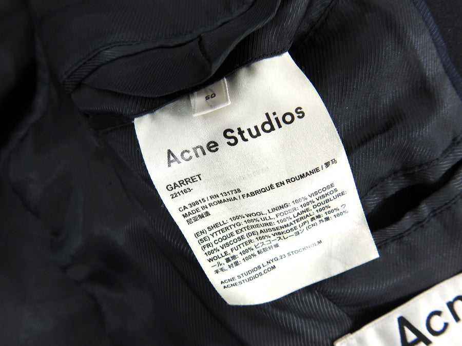 Acne Studios Black Wool Garret Coat - M