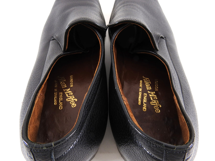 Alan McAfee England Black Leather Slip on Dress Shoes - 12.5