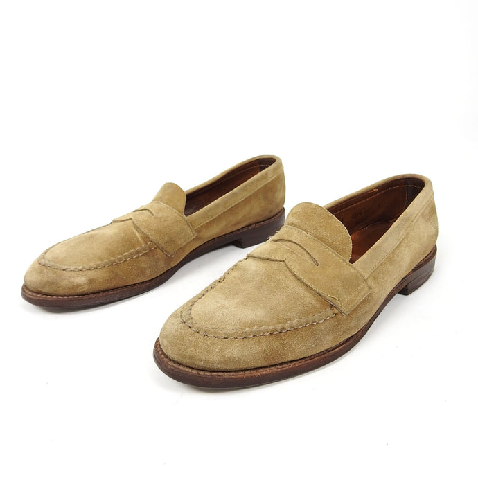 Alden Suede Penny Loafer Brown Size 9.5