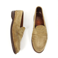 Load image into Gallery viewer, Alden Suede Penny Loafer Brown Size 9.5