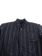 Ann Demeulemeester Navy and Grey Striped Jacket - M