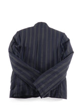 Load image into Gallery viewer,  Ann Demeulemeester Navy and Grey Striped Jacket - M
