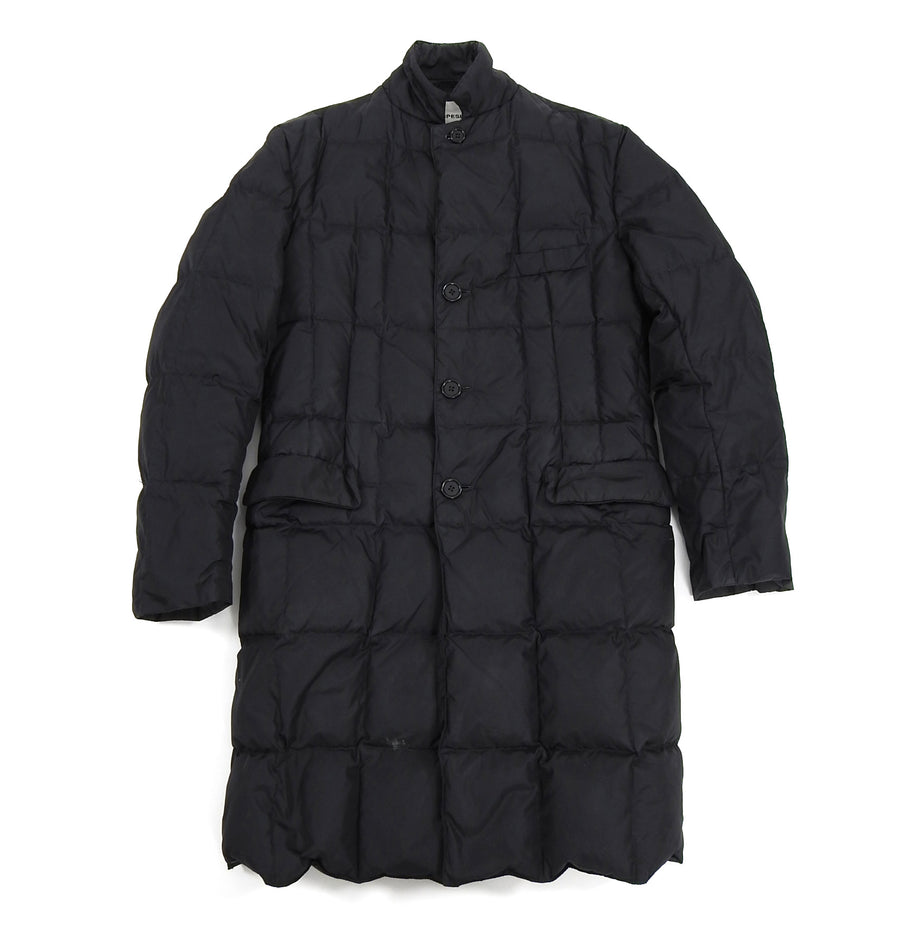 Aspesi Black Long Black Quilted Down Puffer Parka jacket