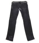 Balmain Black Slim Biker Ribbed Denim Jeans - 34