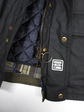 Load image into Gallery viewer, Belstaff Wax Jacket with Removable Liner Black 46