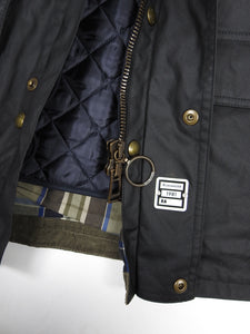 Belstaff Wax Jacket with Removable Liner Black 46